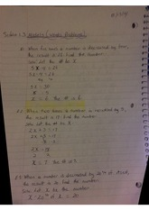 Model Word Problems Class Notes