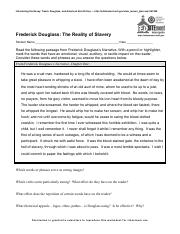 Introducing the Essay - Frederick Douglass - The Reality of Slavery.pdf