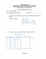 MATH 1019 Quiz 1 Summer 2015