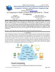A Comparative Study of SaaS, PaaS and IaaS in Cloud Computing