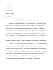 cause and effect (essay) 1