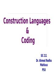 Module-5-Construction Languages  Coding.pptx