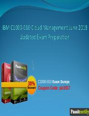 IBM C1000-010 Cloud Management June 2018 Updated Exam Preparation.ppt