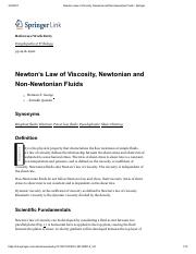 Newton's Law of Viscosity, Newtonian and Non-Newtonian Fluids - Springer.pdf