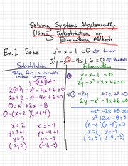 Substitution and Elimination Notes
