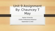 Unit 9 Assignment CS204