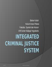 MK 3 Integrated Criminal Justice System
