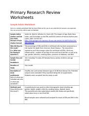 NTR351 Primary Research Review Worksheets-4.doc