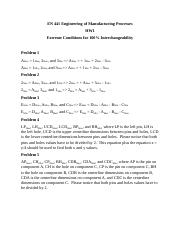 EN 441 Engineering of Manufacturing Processes Equations