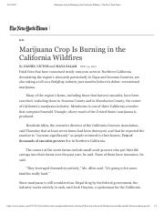 Marijuana Crop Is Burning in the California Wildfires - The New York Times.pdf