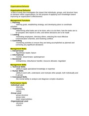 management midterm study guide