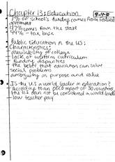 Notes, Sociology of Education