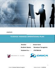 TLI50410 Manage Operational Plan.doc