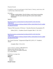 Annotated bibliography for gun control