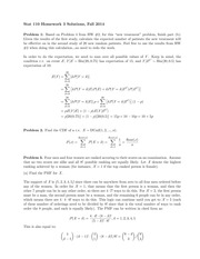 STATS 110 Fall 2014 Homework 3 Solutions