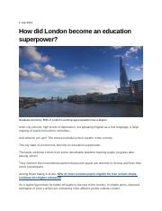 How did London become an education superpower_550708010