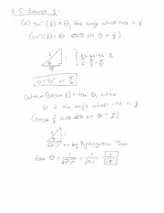 3.5 Example and Arcsin(x) Derivative Proof