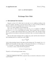 Week 5_Exchange Rate Risk _ Note by Prof Wang