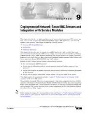 Deployment of Network-Based IDS Sensors and Integration with Service Modules