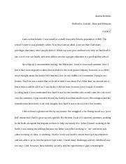 A Robbins Reflective Journal Race and Ethnicity.docx