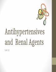 Antihypertensives and Renal Agents FA 2016(1).ppt