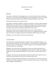 FAU ENC 3213 Resume and Cover Letter Assignment