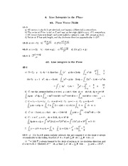 4. Line Integrals in the Plane Solutions