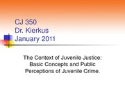 CJ 350 Chapter 1 Lecture (Winter 2011)
