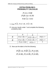 Extra Problem 3 - Probability Rules