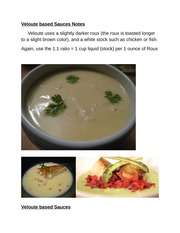 Veloute based Sauces Notes