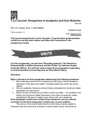 APUSH 1.2.3 Journal: Perspective in Academic and Oral Histories.pdf