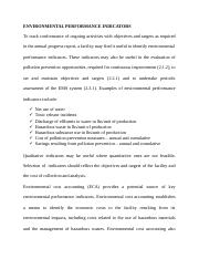 ENVIRONMENTAL PERFORMANCE INDICATORS.docx