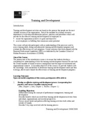 TrainingDevelopmentOutline
