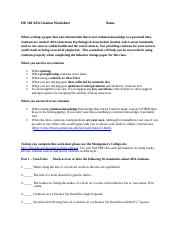 Worksheet 4 - APACitationWorksheet