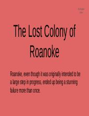 Roanoke Presentation
