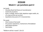 Lecture 4 pn junctions part 2