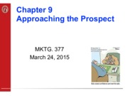 Chapter 9 - APPROACHING THE PROSPECT 3-24-15