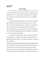 End of Life Paper