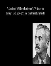 the power of personification in william faulkners a rose for emily Free essay: escaping loneliness in a rose for emily, william faulkner's use of setting and characterization foreshadows and builds up to the.