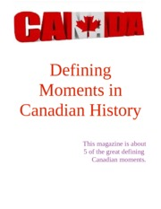 Canadian defining moments