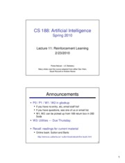 SP10 cs188 lecture 11 -- reinforcement learning (2PP)