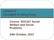 SOC327 L8 Education (24 Oct 2013)
