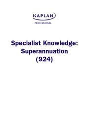 Superannuation - Study Notes