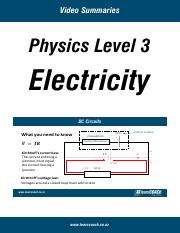 L3-Physics-Electricity-Summary
