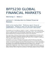 Introduction To Global Financial Markets Workshop-2