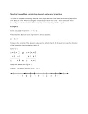 Solving inequalities containing absolute value and graphing