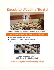 Lab 2-2 Wedding Bakery Flyer (Formatted).docx
