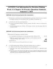 Week 11 (Chapter 19) Practice Questions Solutions
