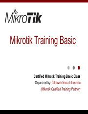 Mikrotik Training Pdf