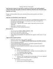 Biology 1610 Test 3 Study guide